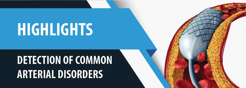 Detection of common arterial disorders