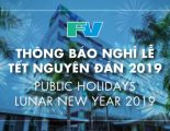 Announcement of public holidays – Lunar new year 2019
