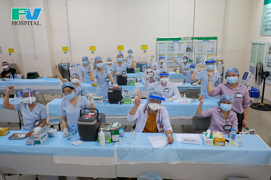 Get ready before administering the first doses of Covid-19 vaccine at Nidec Sankyo