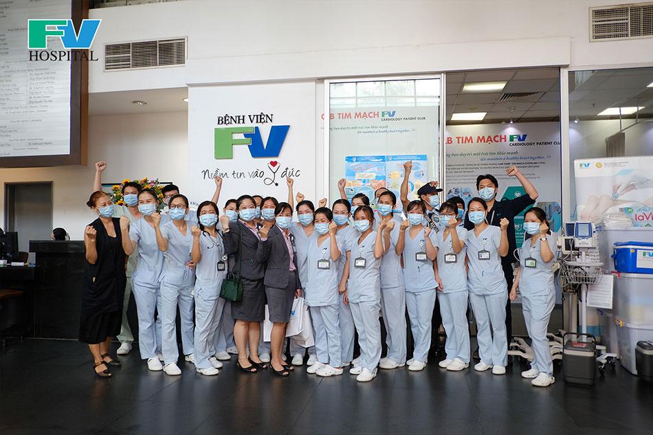 Injection Teams at FV Hospital before departure